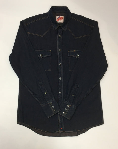 Denim Long Sleeve Shirt with Gorgeous Snaps