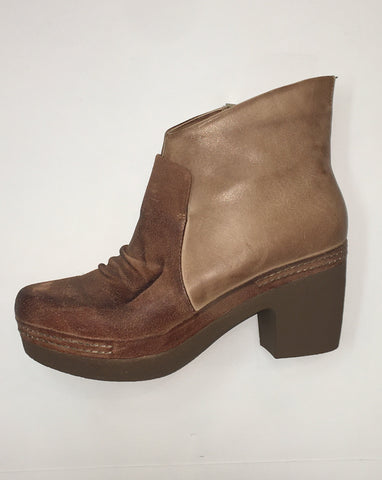Lightweight, Short, Brown Boot with Zipper