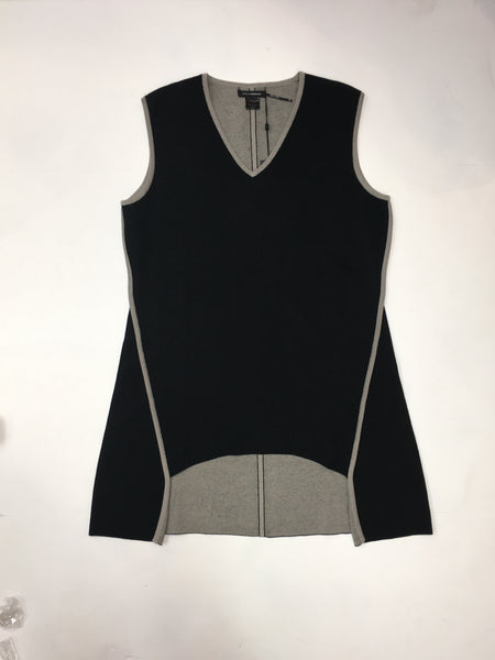 Reversible Vest in Gray/ Yellow or Black/ Gray