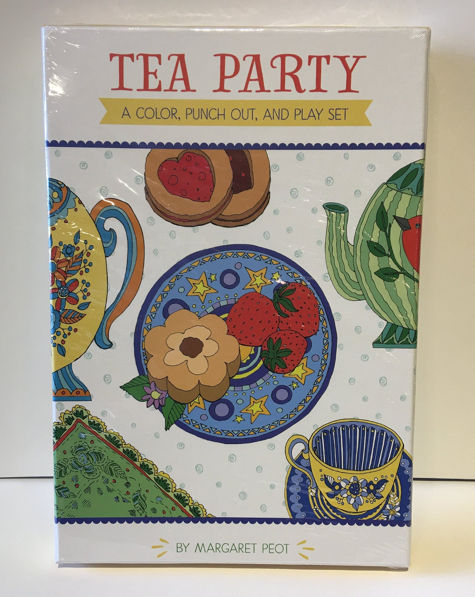 """Tea Party"" Color, Punch Out and Play Set"