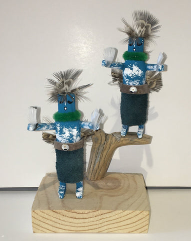 """Fancy Dancers"" Handmade Kachinas, 6"""