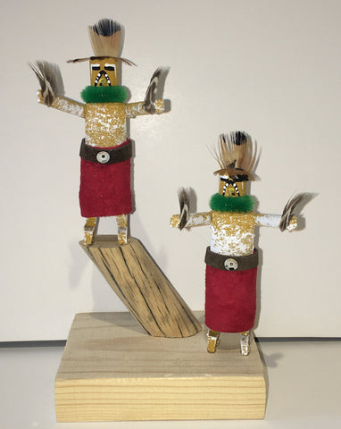 """Hawk"" Handmade Double Kachinas, 6"""
