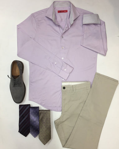 Georg Roth Men's Shirt in Lilac
