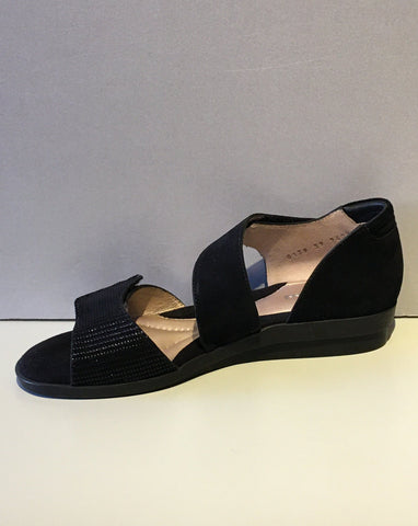 Black Suede Sandals by Beautifeel