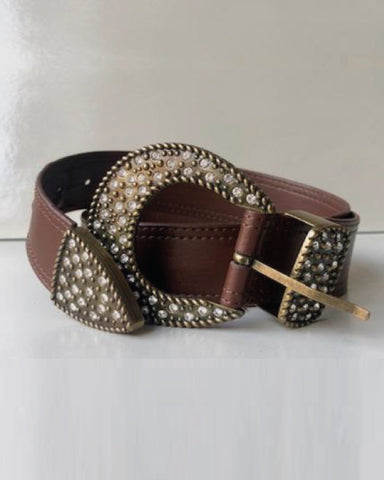 Italian Chocolate Leather Belt