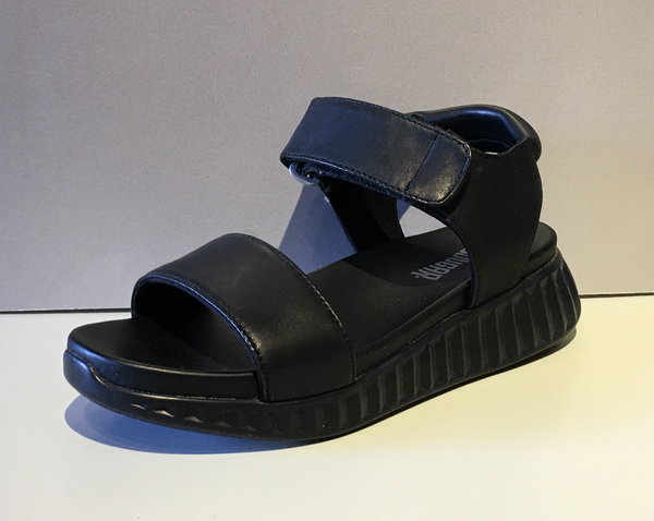 Black Sandal with Velcro Strap