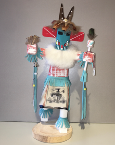 """Morning Singer,"" Navajo Handmade Kachina, 14"""