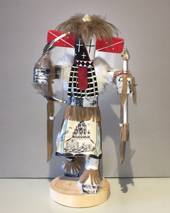 """Warrior,"" Handmade Navajo Kachina Doll, 14"""