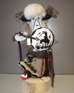 """Buffalo Warrior,"" Handmade Navajo Kachina, 14"""