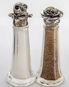 """Guns and Roses"" Handmade Salt and Pepper Shakers"