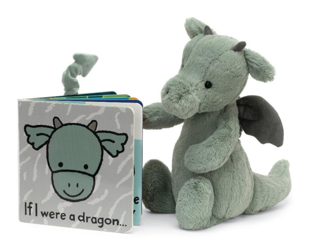 """If I Were a Dragon"" Book with Bashful Dragon Jellycat"