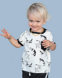 Black and White Dogs T-shirt for Baby