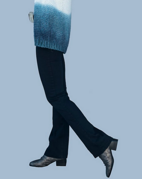 Blue Robell, Slim Fit Jeans with Flared Leg
