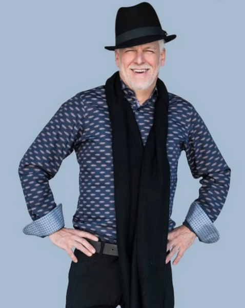 Men's Cashmere Scarves in Black/ Vanilla