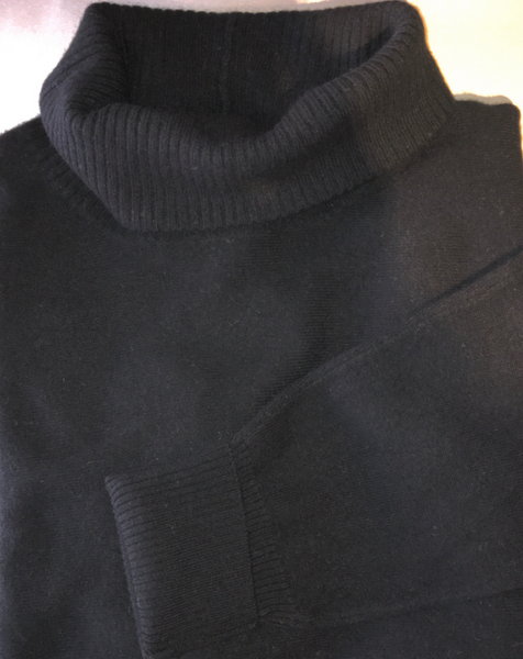 Cashmere Turtleneck Sweater in Vanilla or Black