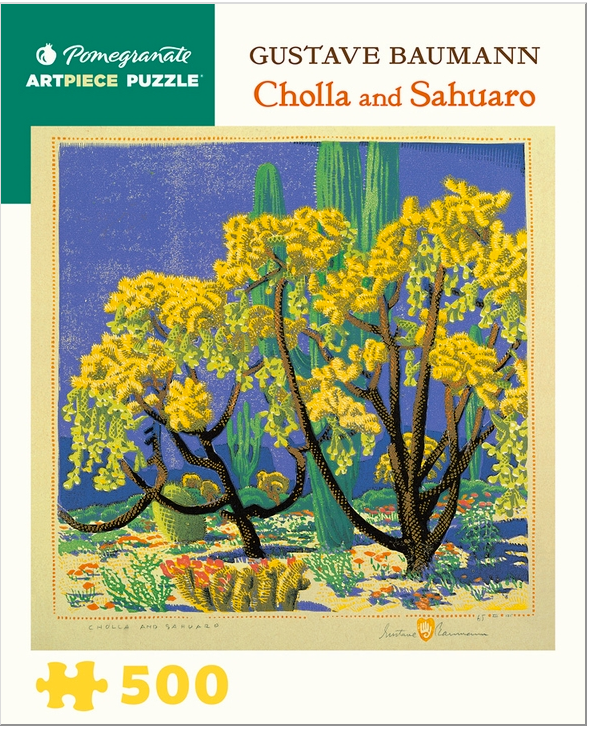 Cholla and Saguaro, 500 Piece Jigsaw Puzzle