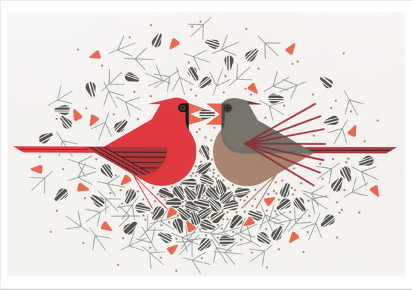 """Cardinals"" Boxed Note Cards"