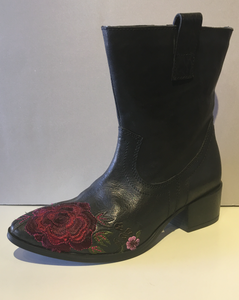 Rose Embroidered Boots
