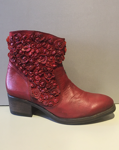 Red Rosette Boots