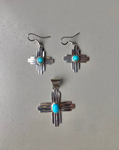 Turquoise Zia Earrings