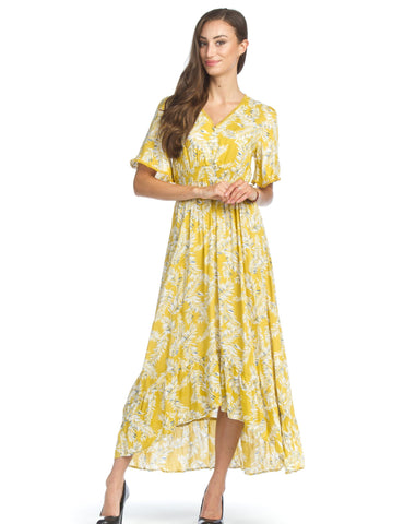 Long Spring Dress in Mustard