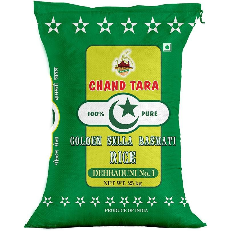 Chand Tara Golden Sella Basmati Rice, 25 Kg SHRILALMAHALGROUP