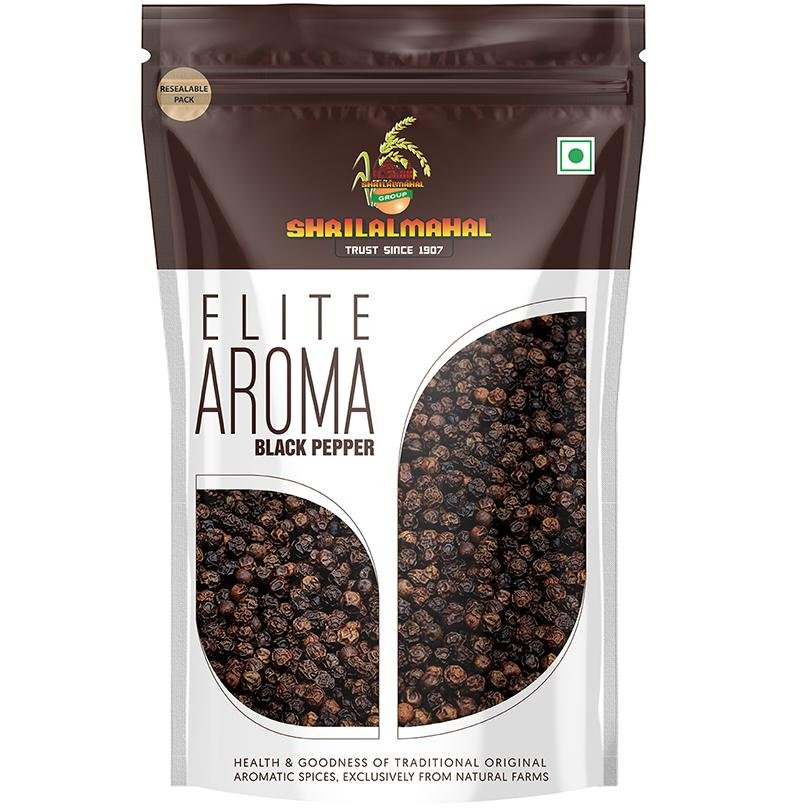 Elite Aroma, Black Pepper Premium Grade (200g) SHRILALMAHAL GROUP
