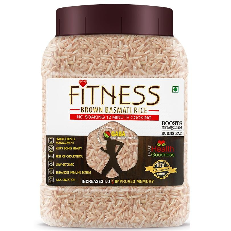 Fitness Brown Basmati Rice (Jar) SHRILALMAHAL GROUP