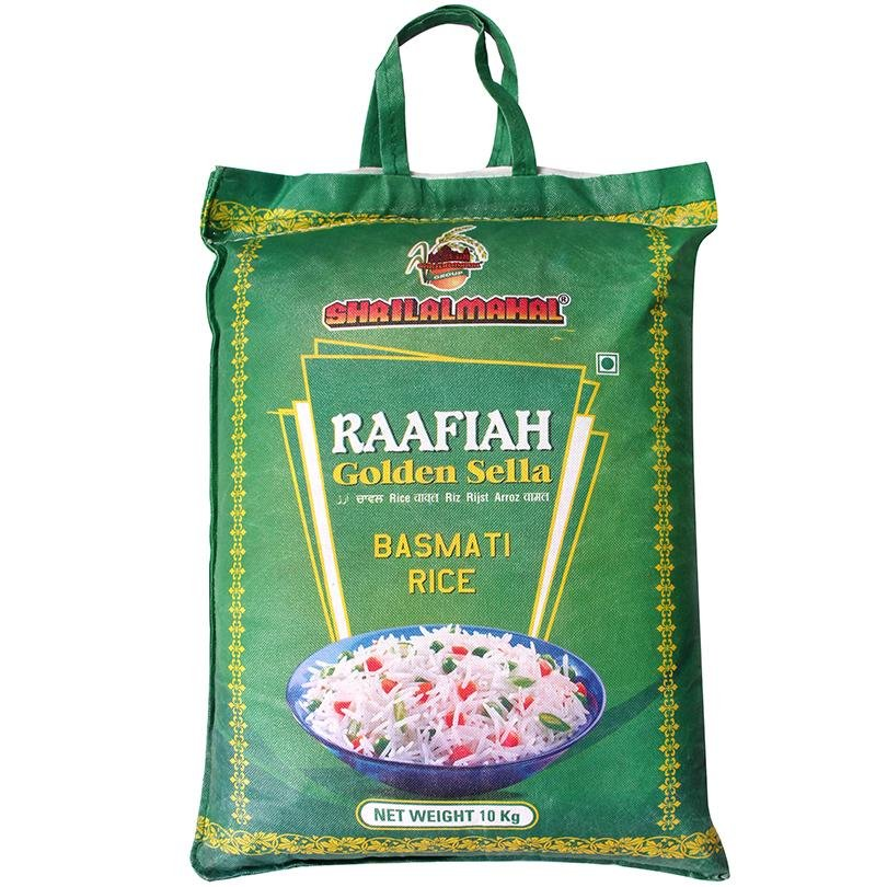 Load image into Gallery viewer, Raafiah Golden Sella Basmati Rice, 10 Kg SHRILALMAHALGROUP