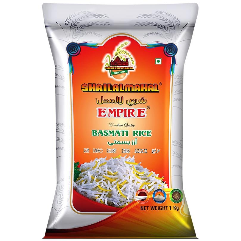 The Most Premium, Empire Basmati Rice, 1 Kg SHRILALMAHAL GROUP