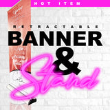 Retractable Banner & Stand (DELUXE)