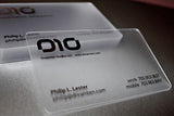 20 MIL Frosted Plastic Business Cards