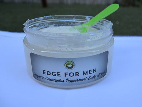Men's Organic Eucalyptus Peppermint Sugar Body Scrub - Momma's Best Homemade, LLC