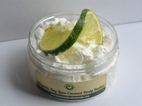 Organic Whipped Key Lime Coconut Body Butter - Momma's Best Homemade, LLC