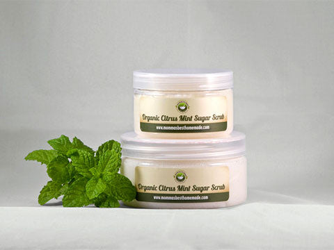 Organic Citrus Mint Body Scrub - Momma's Best Homemade, LLC