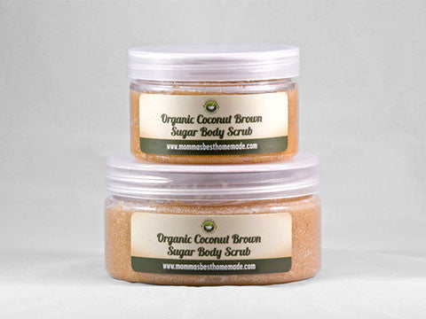 Tropical Organic Coconut Brown Sugar Body Scrub - Momma's Best Homemade, LLC