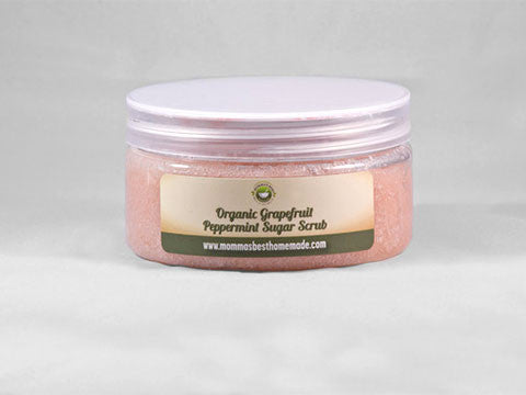 Organic Grapefruit Peppermint Sugar Body Scrub - Momma's Best Homemade, LLC