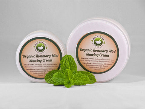 Organic Rosemary Mint Shaving Cream - Momma's Best Homemade, LLC
