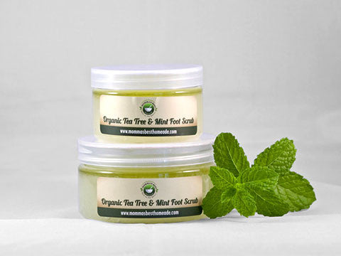 Tea Tree & Mint Foot Scrub - Momma's Best Homemade, LLC