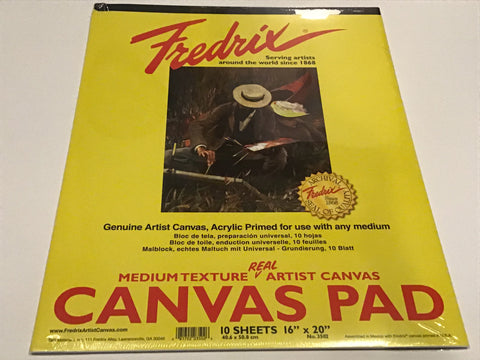 Fredrix Canvas Pad, 16x20