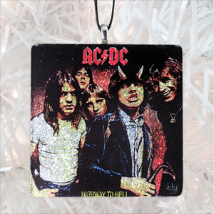 AC-DC Highway To Hell Custom Album Cover Glass Ornament by BBJ