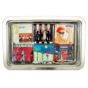 Customized glass album cover magnet set by BBJ -  Duran Duran Blondie Eurythmics Talikng Heads Cure Cyndi Lauper