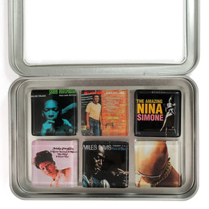 Customized glass album cover magnet set by BBJ - Coltrane Bill Withers Nina Simone Aretha Miles Davis Isaac Hayes