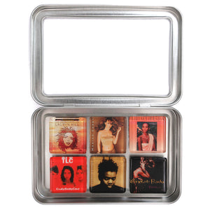 Customized glass album cover magnet set by BBJ - Lauryn Hill Mariah Whitney TLC Tracy Chapman Erykah Badu