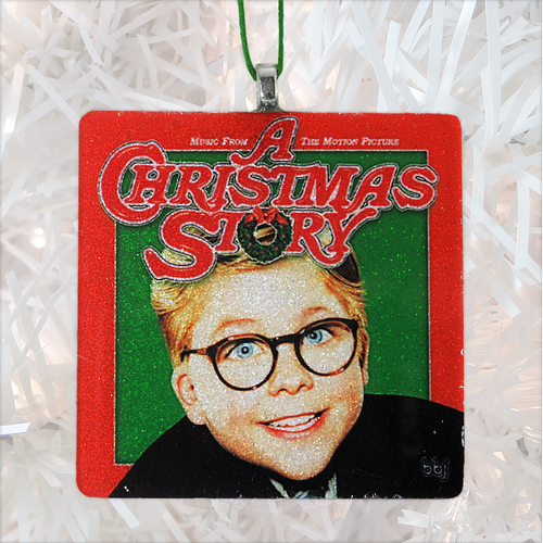 A Christmas Story Album Cover Glass Ornament by BBJ