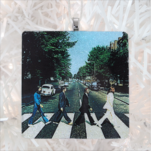 Load image into Gallery viewer, The Beatles Abbey Road Album Cover Glass Ornament by BBJ