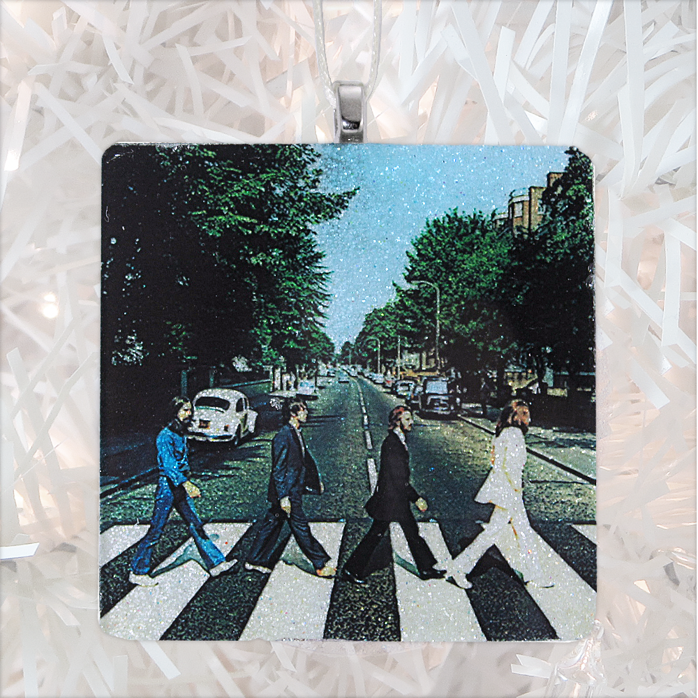The Beatles Abbey Road Album Cover Glass Ornament by BBJ