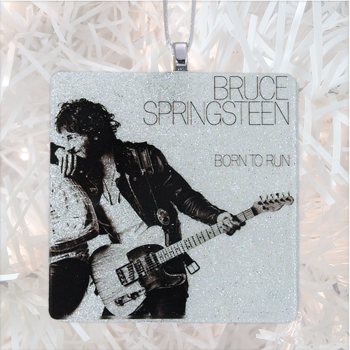 Bruce Springsteen Born To Run Album Cover Glass Ornament by BBJ