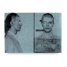 Load image into Gallery viewer, David Bowie mug shot wall art plaque