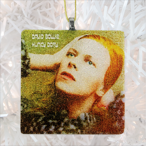 David Bowie Hunky Dory Album Cover Glass Ornament by BBJ